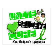 UNITE BELIEVE CURE Non-Hodgkin's Lymphoma Postcard