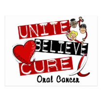 UNITE BELIEVE CURE Oral Cancer Postcard