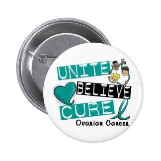 UNITE BELIEVE CURE Ovarian Cancer Pinback Button