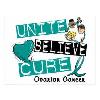 UNITE BELIEVE CURE Ovarian Cancer Postcard