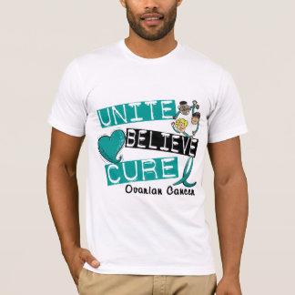 UNITE BELIEVE CURE Ovarian Cancer T-Shirt