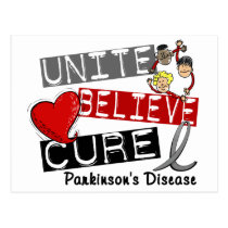 UNITE BELIEVE CURE Parkinson's Disease Postcard