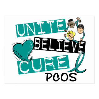 UNITE BELIEVE CURE PCOS POSTCARD