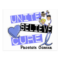 UNITE BELIEVE CURE Prostate Cancer Postcard