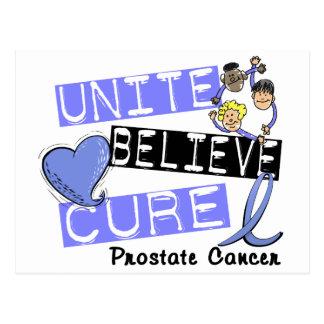 UNITE BELIEVE CURE Prostate Cancer Postcard