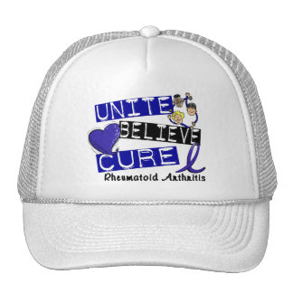 UNITE BELIEVE CURE Rheumatoid Arthritis Hats