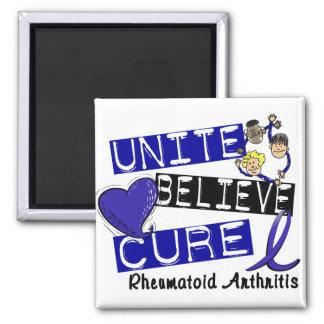 UNITE BELIEVE CURE Rheumatoid Arthritis Fridge Magnet
