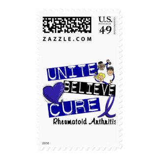 UNITE BELIEVE CURE Rheumatoid Arthritis Postage Stamps