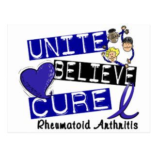 UNITE BELIEVE CURE Rheumatoid Arthritis Postcard