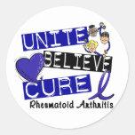 UNITE BELIEVE CURE Rheumatoid Arthritis Round Stickers