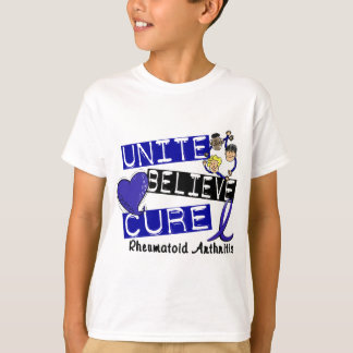 UNITE BELIEVE CURE Rheumatoid Arthritis T-Shirt