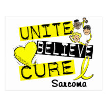 UNITE BELIEVE CURE Sarcoma Postcard
