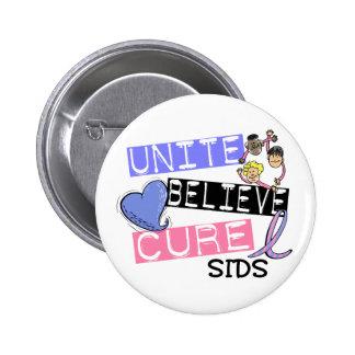 UNITE BELIEVE CURE SIDS PINS