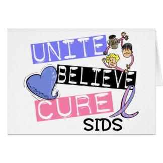 UNITE BELIEVE CURE SIDS CARD