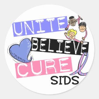 UNITE BELIEVE CURE SIDS STICKERS