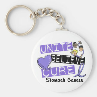 UNITE BELIEVE CURE Stomach Cancer Key Chains