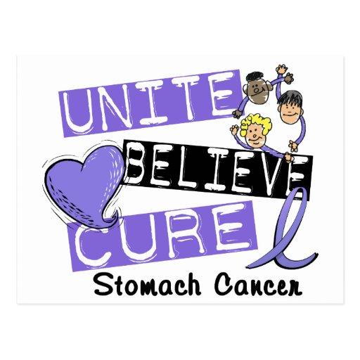 UNITE BELIEVE CURE Stomach Cancer Postcard