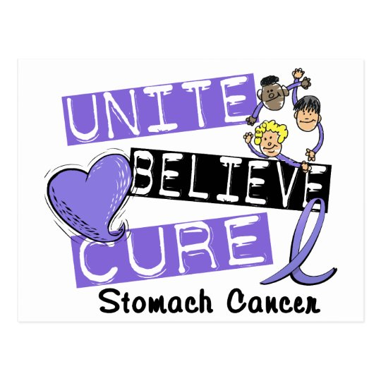 UNITE BELIEVE CURE Stomach Cancer Postcard