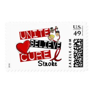 UNITE BELIEVE CURE Stroke Stamp