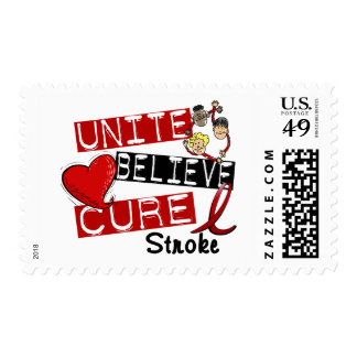 UNITE BELIEVE CURE Stroke Postage Stamp
