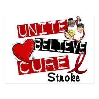 UNITE BELIEVE CURE Stroke Postcard