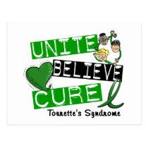 Unite Believe Cure Tourette's Syndrome Postcard