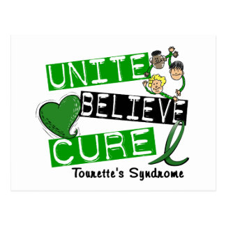 Unite Believe Cure Tourette's Syndrome Postcard