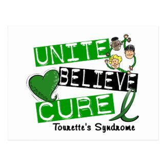 Unite Believe Cure Tourette's Syndrome Post Card