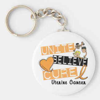 UNITE BELIEVE CURE Uterine Cancer Keychain