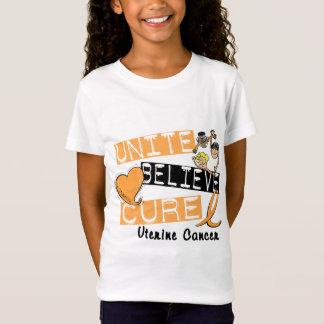 UNITE BELIEVE CURE Uterine Cancer T-Shirt