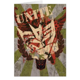 Unite - Decepticon Symbol Card