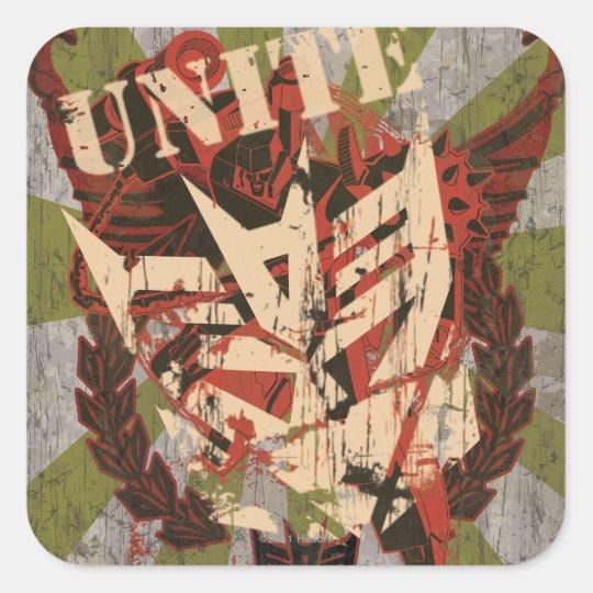 Unite - Decepticon Symbol Square Sticker