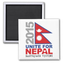 Unite For Nepal Earthquake Relief 2 Inch Square Magnet