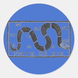 Unite or Die Classic Round Sticker