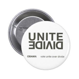 Unite Over Divide white button