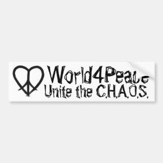 Unite the C.H.A.O.S. - World4Peace Bumper Stickers