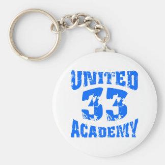 United Academy Jersey Basic Round Button Keychain