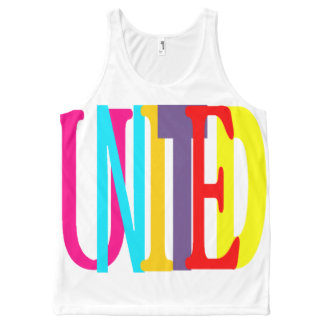 United All-Over Printed Unisex Tank, L All-Over-Print Tank Top