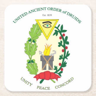 UNITED ANCIENT ORDER OF DRUIDS SQUARE PAPER COASTER
