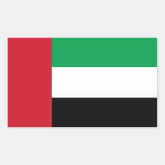 United Arab Emirates/bandera de Emirian Pegatina Rectangular