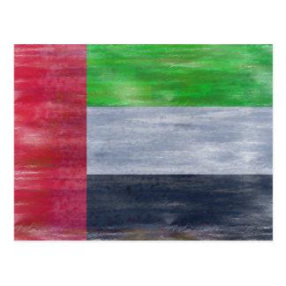 United Arab Emirates distressed UAE flag Postcard