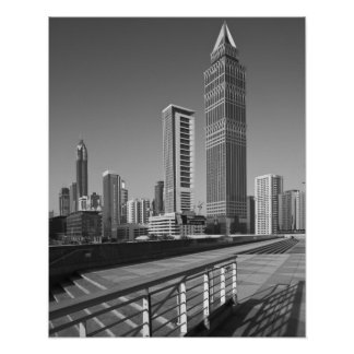 United Arab Emirates, Dubai, Dubai City. Poster
