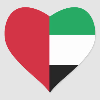 United Arab Emirates/Emirian Heart Flag Stickers