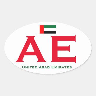 United Arab Emirates Euro Oval Sticker