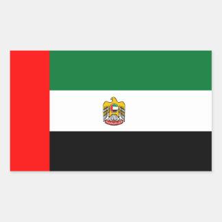 United Arab Emirates flag and emblem Rectangular Sticker