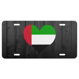 United+Arab+Emirates flag colored License Plate