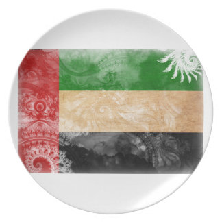 United Arab Emirates Flag Dinner Plate