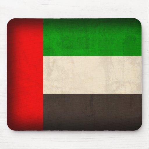 United Arab Emirates Flag Distressed Mousepad