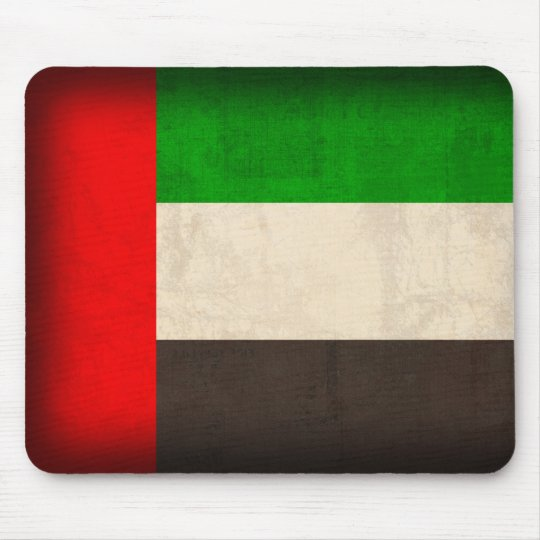 United Arab Emirates Flag Distressed Mousepad