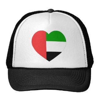 United Arab Emirates Flag Heart Mesh Hat